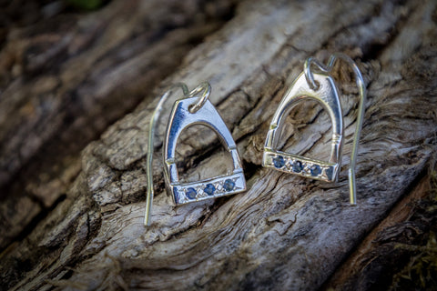Stirrup Earrings - Sapphires