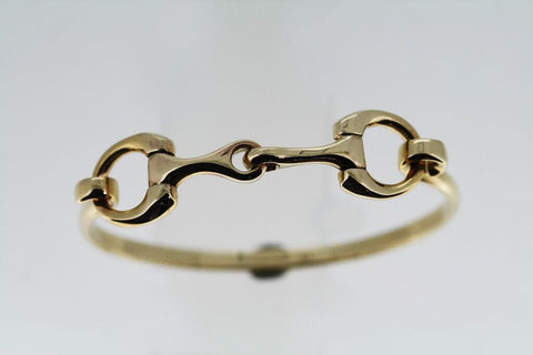 Snaffle Bit Bangle - 9ct Yellow Gold