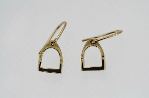 Stirrup Earrings - 9ct Gold