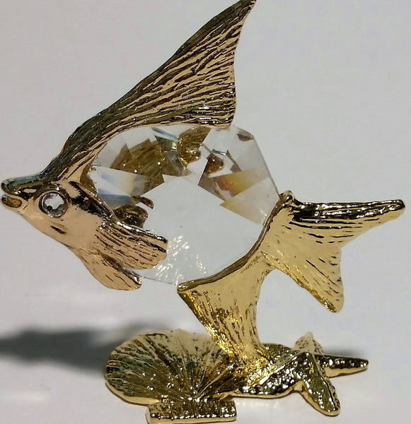 Crystal Angel Fish Miniature Handcrafted By Bjcrystalgifts Using Swarovski Crystal