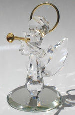 Load image into Gallery viewer, Handcrafted Crystal Angel Blowing Trumpet Made with Swarovski Crystal - Angel with Trumpet