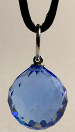 Load image into Gallery viewer, Blue Crystal Ball On A Black Cord