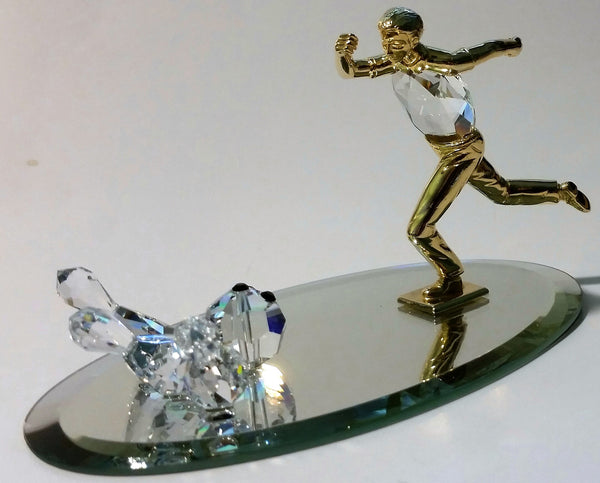 Crystal Bowling Scene Handcrafted By Bjcrystalgifts Using Swarovski Crystal