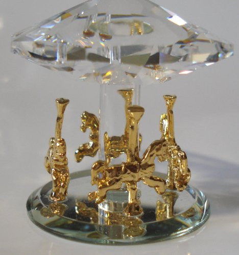 Crystal Carousel Horse Handcrafted Using Swarovski Crystal - Crystal Carousel