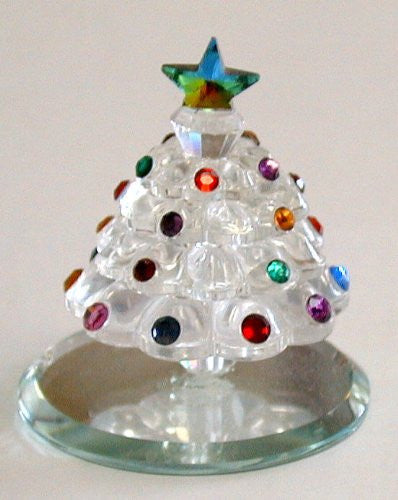 Crystal Christmas Tree Made with Swarovski Crystal