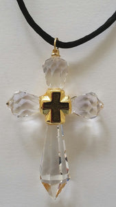 Crystal Cross Handcrafted With Swarovski Crystal - Crystal Cross Necklace - Crystal Cross Ornament