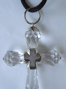 Crystal Cross Necklace Handcrafted By Bjcrystalgifts Using Swarovski Crystal