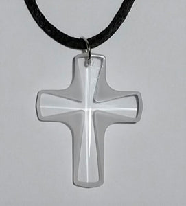 Frosted Crystal Cross Necklace