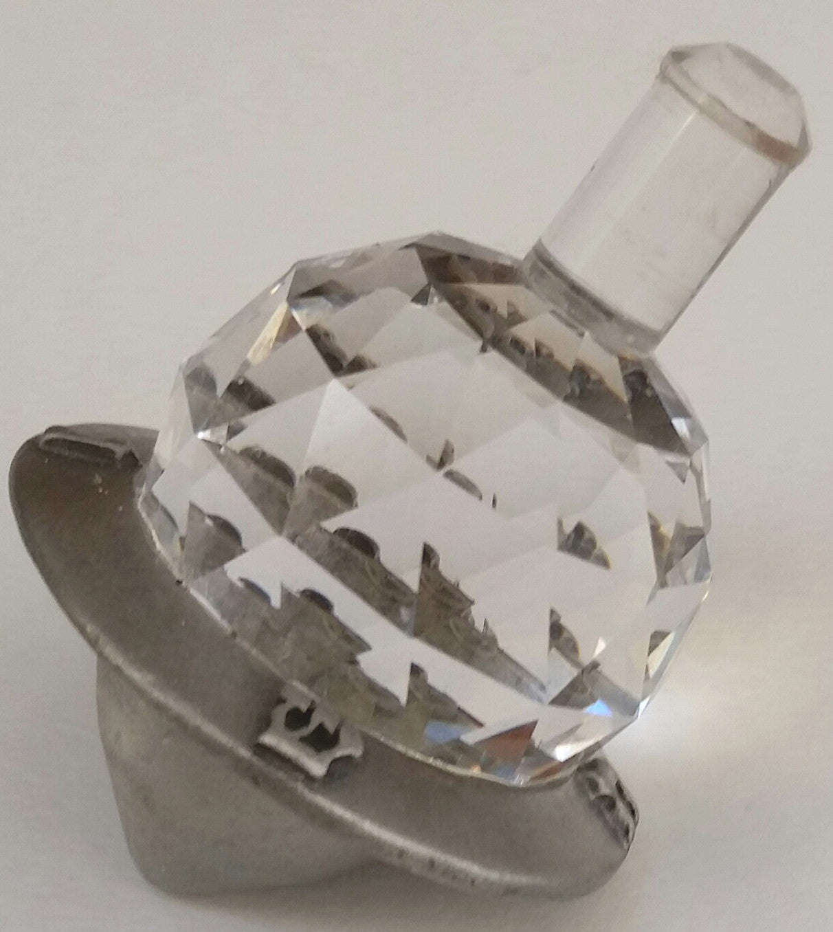 Crystal Dreidel - Pewter Dreidel Handcrafted By Bjcrystalgifts Using Swarovski Crystal