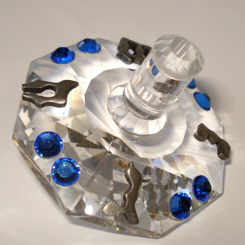 Crystal Dreidel Made Handcrafted By the Artisans At Bjcrystalgifts Using Swarovski Crystal