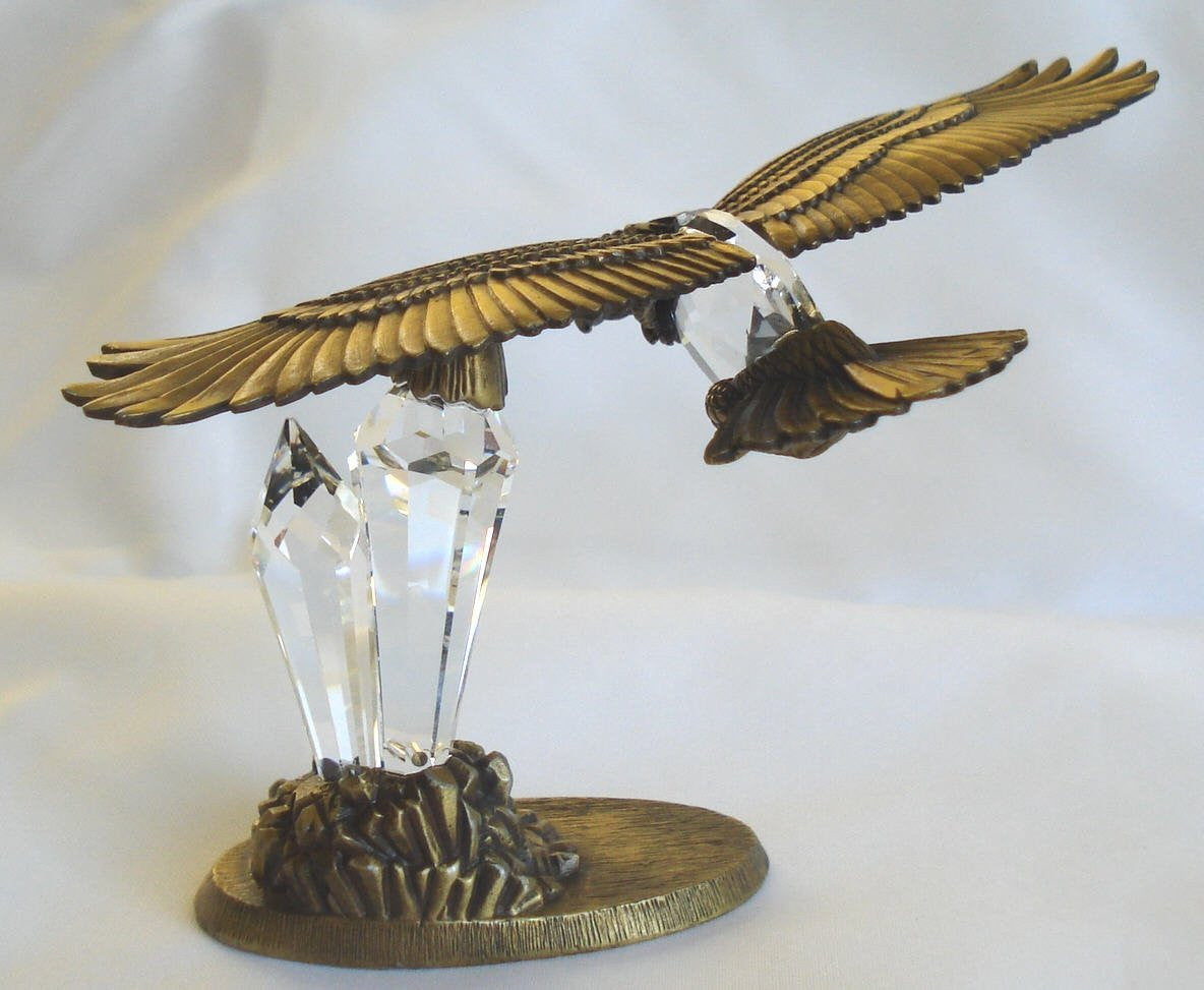 Crystal Eagle In Flight Hand Crafted By Bjcrystal Gifts Using Swarovski Crystal