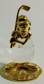 Load image into Gallery viewer, Crystal Golfer Figurine - Crystal Golfer Miniature Handcrafted With Swarovski Crystal