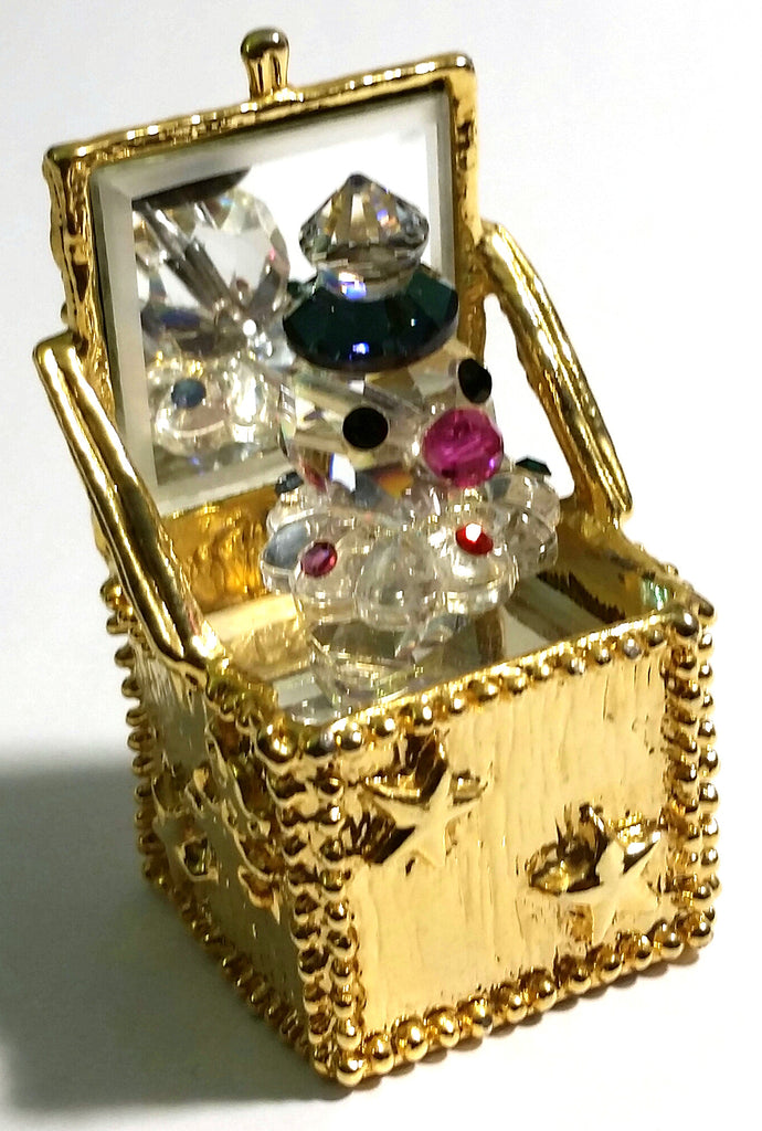 Crystal Jack In The Box Figurine Handcrafted With Swarovski Crystal