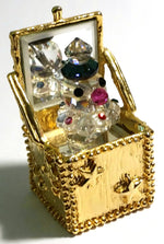 Load image into Gallery viewer, Crystal Jack In The Box Figurine Handcrafted With Swarovski Crystal