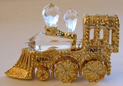 Crystal Train Locomotive made with Swarovski Crystal