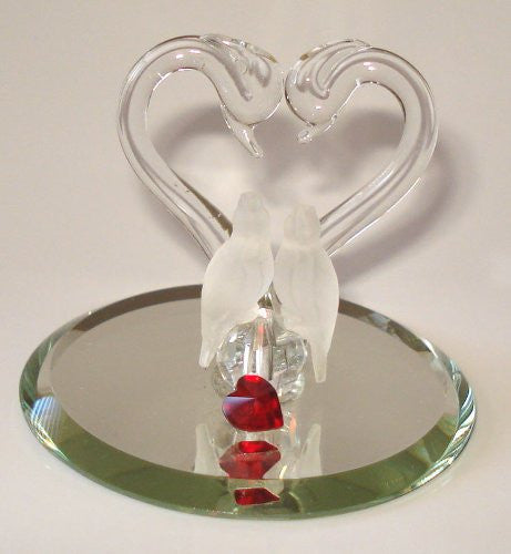 Lovebirds Under Heart Made Handcrafted By Bjcrystalgifts Using Swarovski Crystal