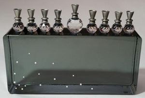 Crystal Menorah - Unique Hanukkah Gift - Chanukkah - Glass Menorah