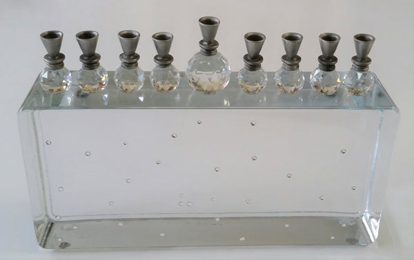 Crystal Menorah - Glass Menorah - Unique Hanukkah Gift - Chanukkah Gift