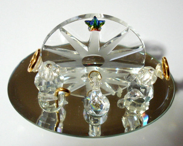 Nativity Scene Handcrafted By Bjcrystalgifts Using Swarovski Crystal