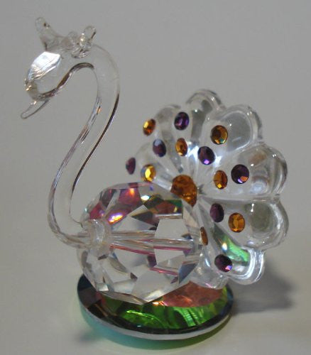 Crystal Peacock Handcrafted Using Swarovski Crystal Components