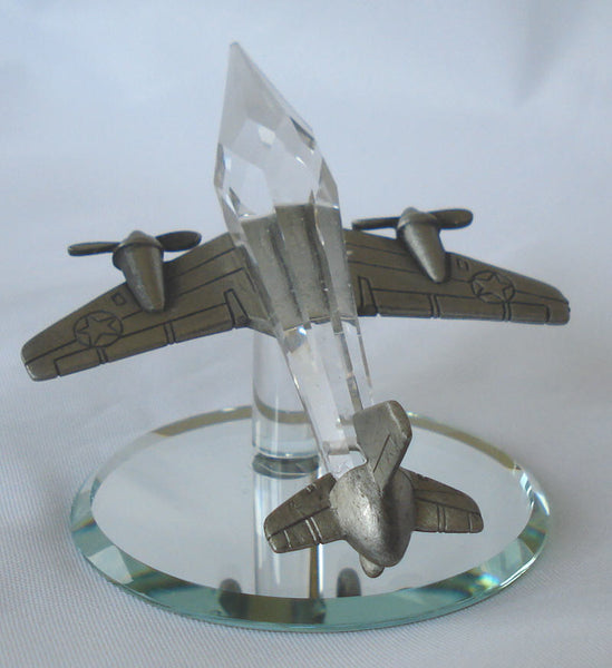 Crystal And Pewter Airplane - Crystal Jet - Pewter Jet