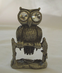 Pewter Owl Figurine