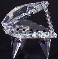 Crystal Piano Figurine - Crystal Piano Miniature Handcrafted Using Swarovski Crystal