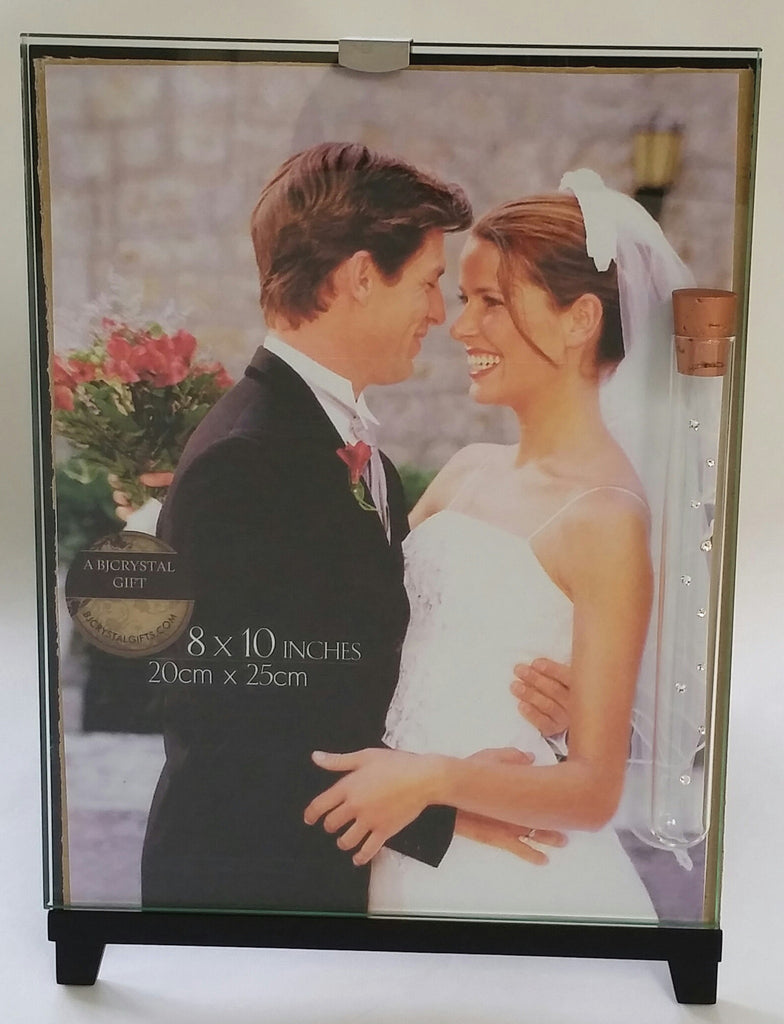 Jewish Wedding Picture Frame That Holds The Shards Broken At Wedding Ceremony - Glass Picture Frame Handcrafted By Bjcrystalgifts