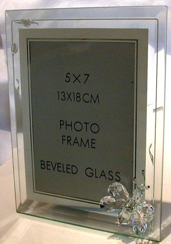 Crystal Butterfly Photo Frame Handcrafted Using Swarovski Crystal
