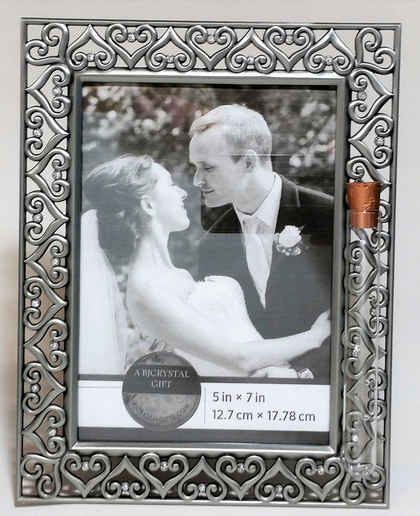 Jewish Wedding Picture Frame - Jewish Engagement Gift - 5x7 Picture Frame - Holds Shards From Jewish Wedding Ceremony