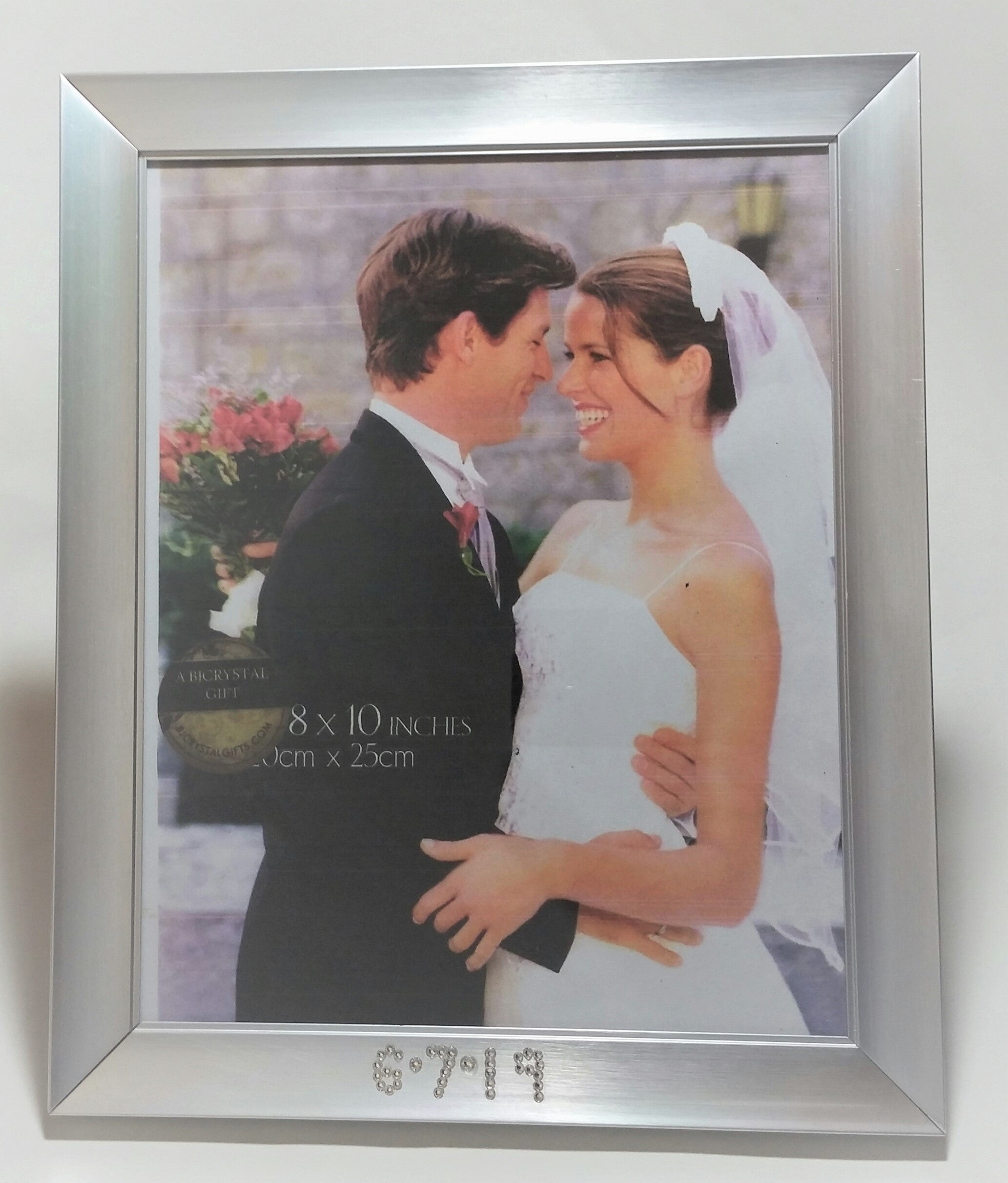 Personalized Wedding Picture Frame - Personalized Engagement Gift - Holds 8 X 10 Photo