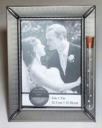 Load image into Gallery viewer, Jewish Wedding Picture Frame - Jewish Engagement Gift - 5x7 inch Picture - Chuppah - Holds Shards