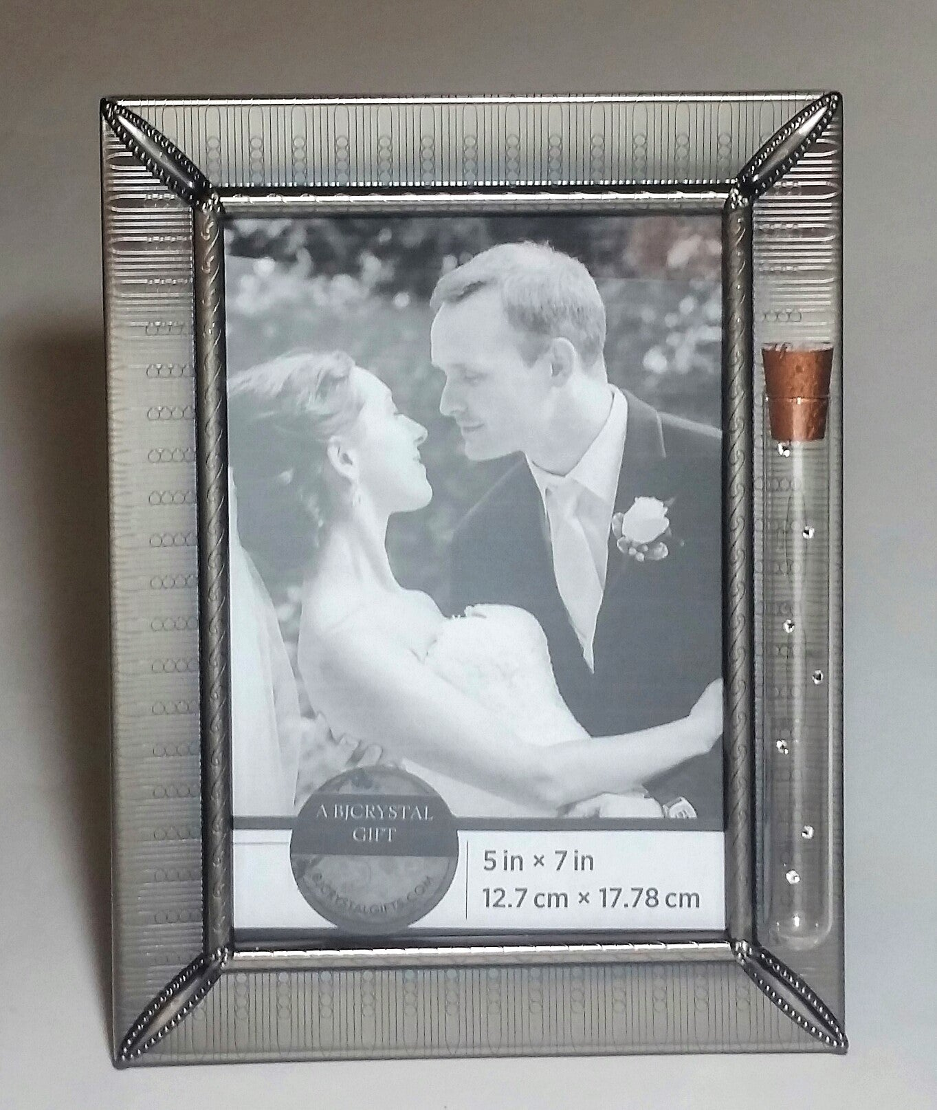 Jewish Wedding Picture Frame - Jewish Engagement Gift - 5x7 inch Picture - Chuppah - Holds Shards