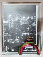 Load image into Gallery viewer, Rainbow Glass Picture Frame - Glass Photo Frame - 5x7 inch photo