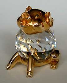 Crystal Pig Figurine - Sitting Pig miniature - Pig Collector