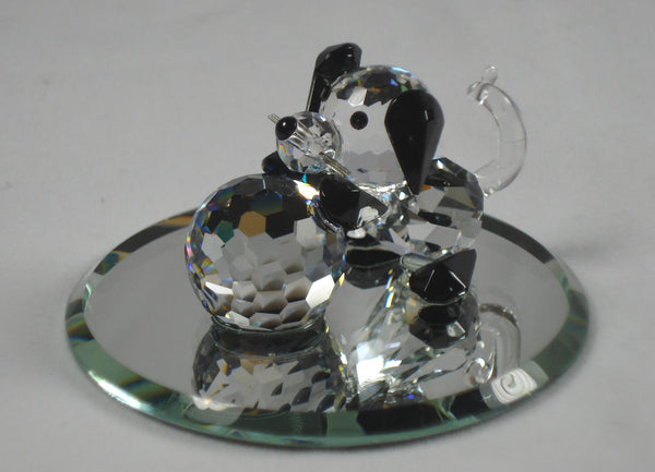 Crystal Puppy With Ball Handcrafted Using Swarovski Crystal - Dog Miniature