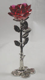 Load image into Gallery viewer, Red Crystal Rose Handcrafted By Bjcrystalgifts Using Swarovski Crystal - Crystal Rose Figurine