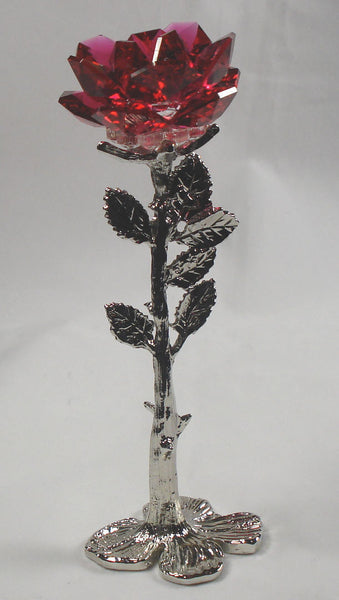 Red Crystal Rose Handcrafted By Bjcrystalgifts Using