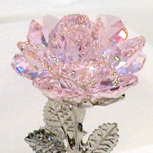 Pink Crystal Rose Made Using Swarovski Crystal