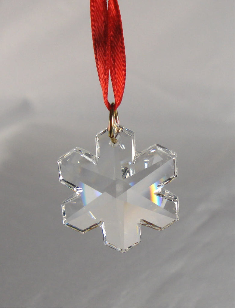 Crystal Snowflake Ornament - Christmas Ornament - Hanging Ornament
