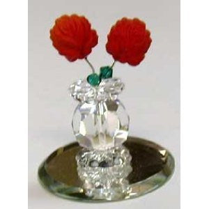Vase With Red Roses Figurine