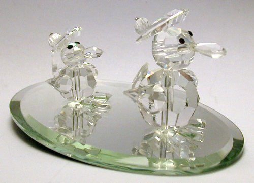 Crystal Waddling Ducks Handcrafted By the Artisans At Bjcrystalgifts Using Swarovski Crystal