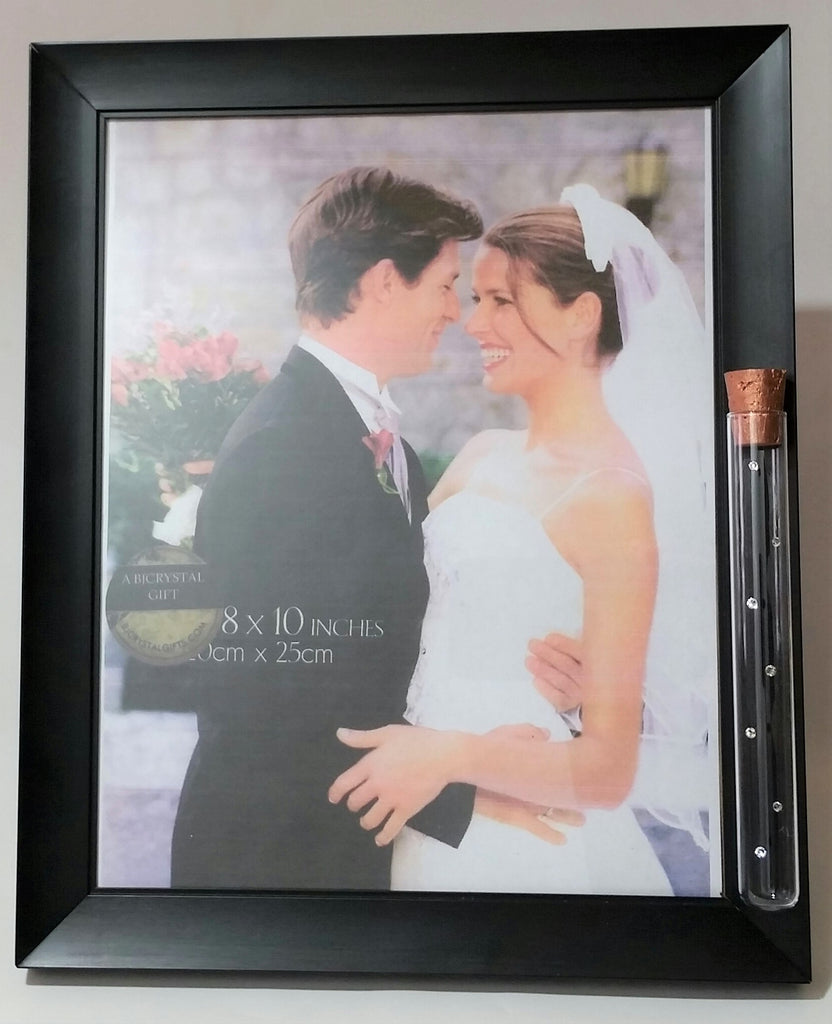 Jewish Wedding Picture Frame - 8X10 Picture - Holds Shards from Glass Broken Under The Chuppah - Jewish Engagement