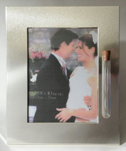 Wedding Picture Frame - Holds Shards from Jewish Wedding Ceremony Jewish Engagement - Holds 8x10 Photo