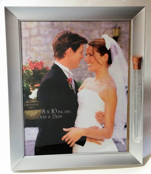 Jewish Wedding Picture Frame - Holds Shards Broken ASt Wedding Ceremony - 8 x 10 Picture