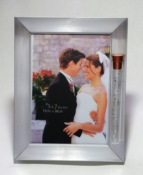 JewishWedding Picture Frame - Holds Shards Broken At Wedding Ceremony - Holds 5x7 Inch Picture
