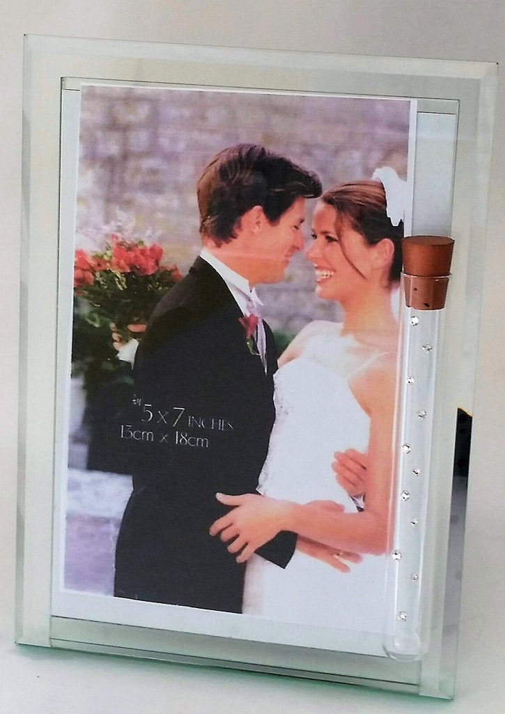 Jewish Wedding Photo Frame - Holds Shards From Wedding Ceremony - Glass Frame
