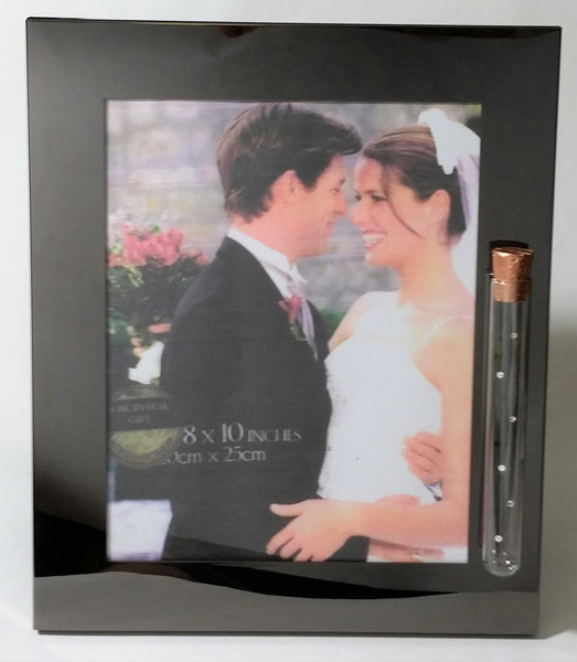 Bjcrystalgifts Wedding Picture Frame - Holds Shards from Jewish Wedding Ceremony Jewish Engagement - Holds 8x10 Photo