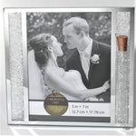 Load image into Gallery viewer, Jewish Wedding Picture Frame Holds Shards Broken Under The Chuppah - Jewish Wedding Engagement Gift