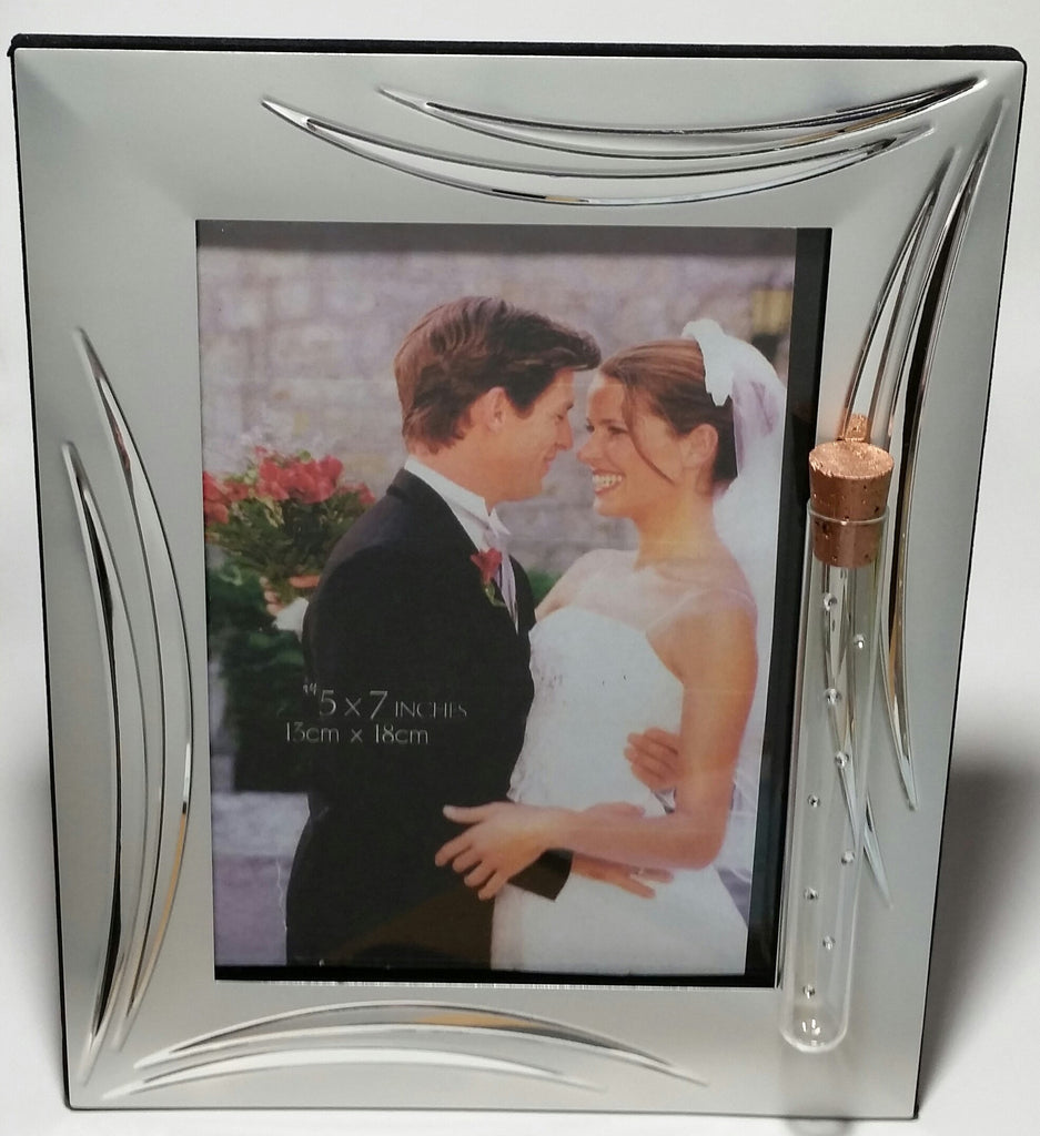 Jewish Wedding Picture Frame - Holds Shards Broken At Wedding Ceremony